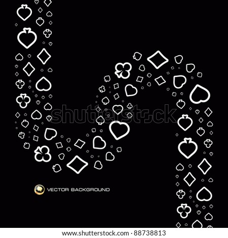 Vector gambling composition. Abstract background. - stock vector