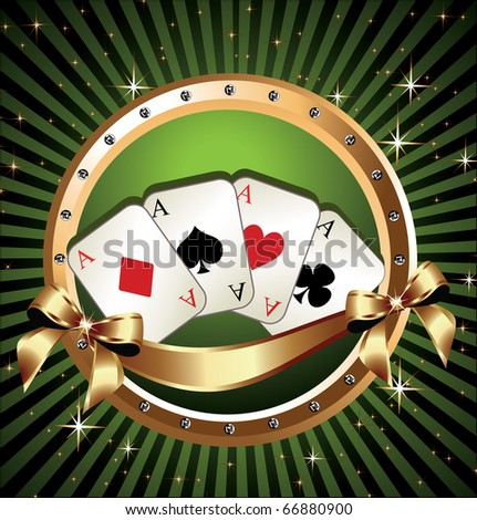 Vector Gambling Illustration - stock vector