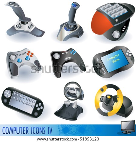 vector game device icons. - stock vector