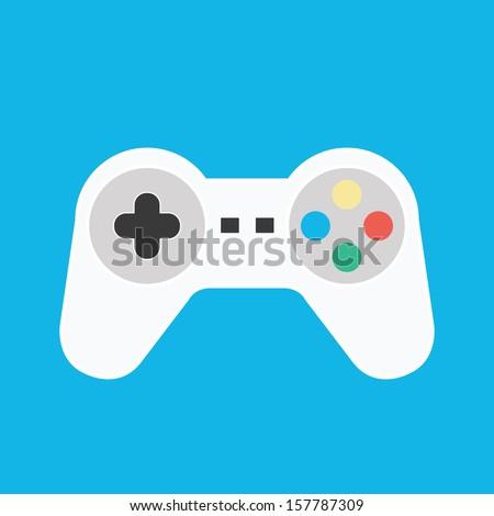 Vector Gamepad Icon - stock vector