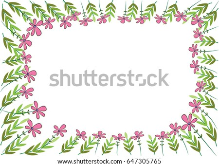Vector Garden Border Stock Vector 647305765 Shutterstock