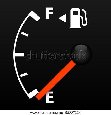 Vector Gas Gauge - stock vector