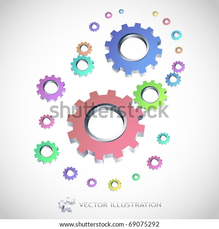 Vector gear background. - stock vector