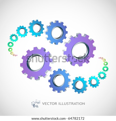 Vector gear background. Abstract illustration. - stock vector