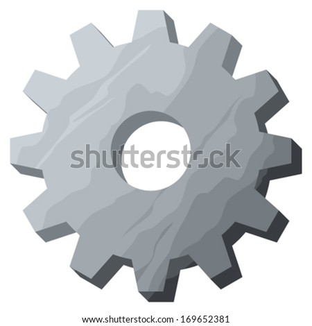 vector gear (vector cog) - stock vector