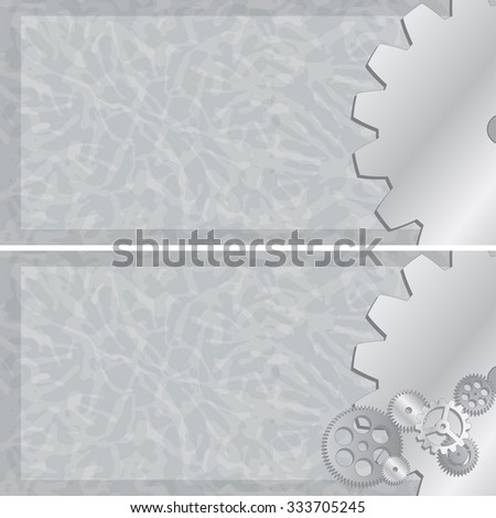 Vector gear wheel banners - stock vector