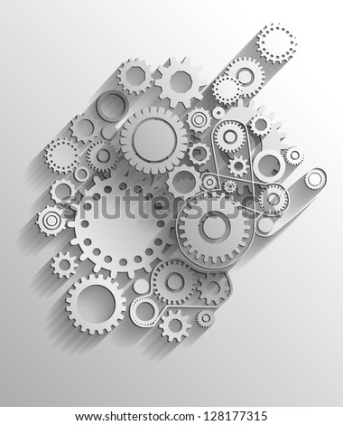 Vector gears eps10 - stock vector