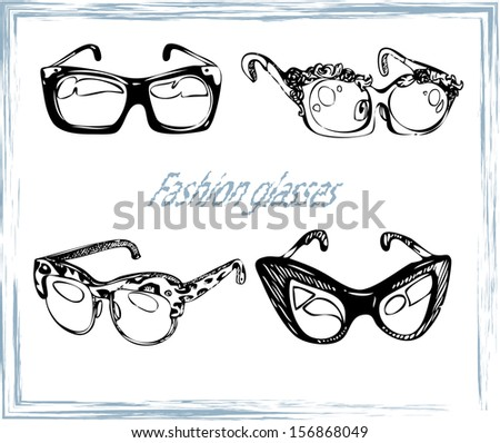 Vector geek glasses vintage style