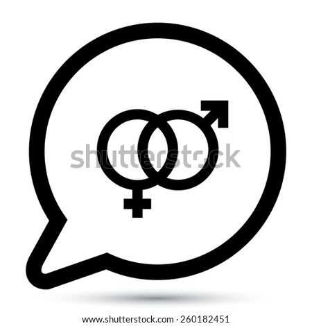 Vector gender icons. File format eps 10 - stock vector
