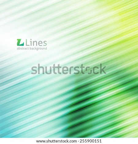 vector geometric abstract background with lines in green color - stock vector