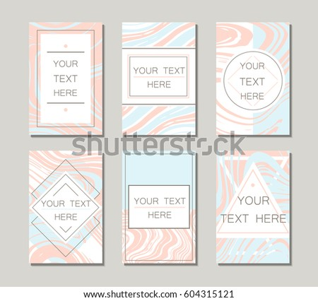 Vector geometric pastel templates wedding invitation stock photo vector geometric and pastel templates for wedding invitation or greeting card brochure banner and stopboris Choice Image