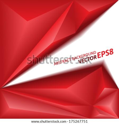 Vector geometric background eps8 - stock vector