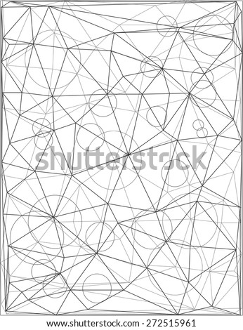 Vector geometric black and white background