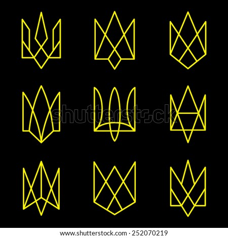 Vector geometric figures. Emblem of Ukraine. - stock vector