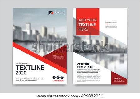 Vector Geometric Flyer Design Design Template Stock Photo Photo
