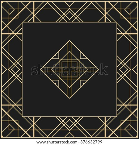 Art Deco Design Elements vector geometric frame art deco style stock vector 411110944