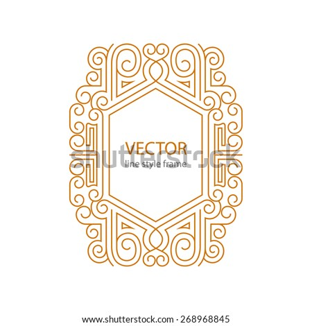 Vector label font art deco ornament stock vector 391188928 for A style text decoration