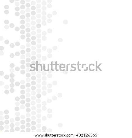 Vector geometric pattern. Modern texture in monochrome. Grey dotted design. Stylish tiles of circles. Abstract background on the book cover, brochure, flyer or website. - stock vector