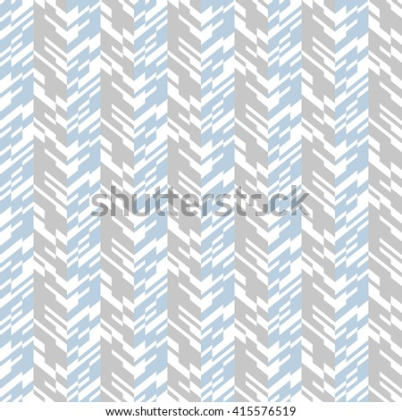 Vector geometric seamless chevron pattern with zigzag line and overlapping stripes in grey colors. Striped bold print in hipster style for winter fall fashion. Abstract monochrome tech background - stock vector