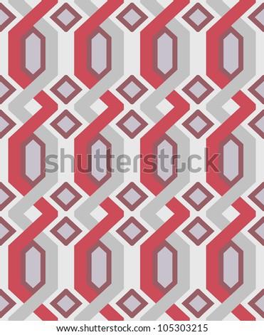 Vector geometric seamless pattern - stock vector