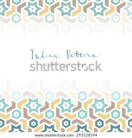 Vector Geometric Template Classic Arabian Style Stock Photo (Photo ...