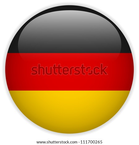Vector - Germany Flag Glossy Button - stock vector