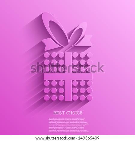 Vector gift background. Eps10 - stock vector