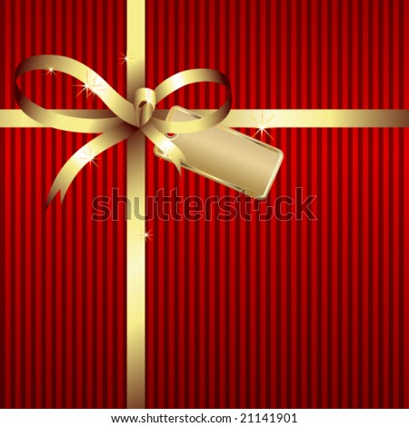 Vector gift bow - stock vector