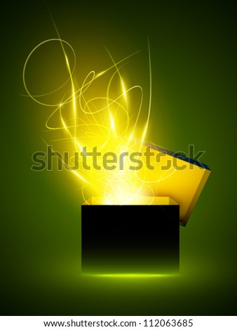 vector gift box illustration - stock vector