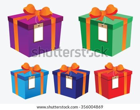 vector Gift boxes - stock vector