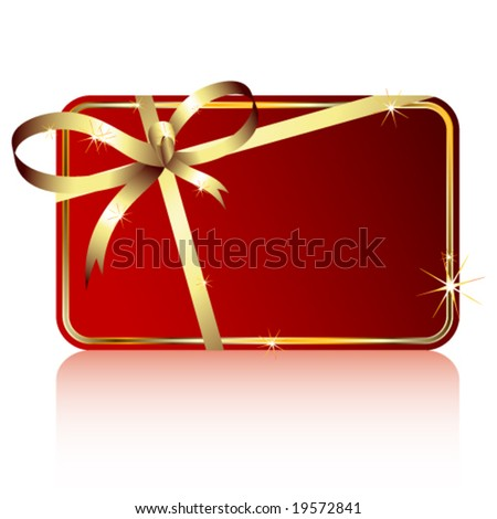 Vector gift tag - stock vector