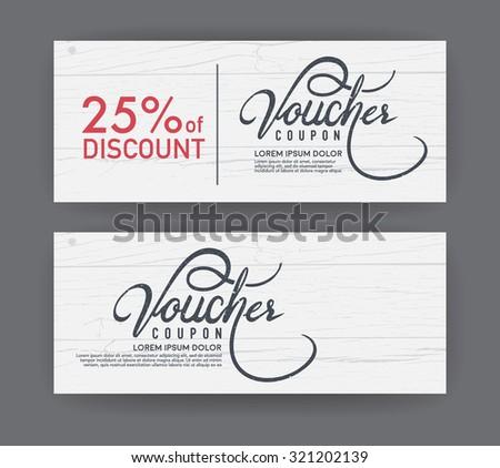 vector gift voucher template. - stock vector
