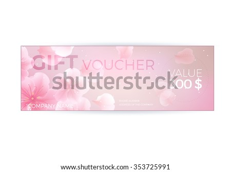 Vector gift voucher template lotus lily stock vector 353725991 vector gift voucher template with lotus lily flowers business floral card template abstract yelopaper Gallery