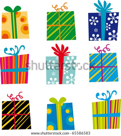 Vector Gifts - stock vector