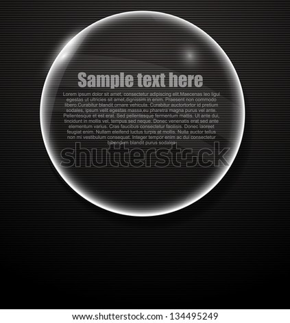 Vector glass background for text eps10 - stock vector