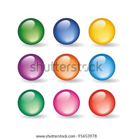 Vector glass ball - stock vector