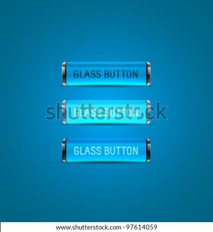 Vector Glass Buttons - stock vector