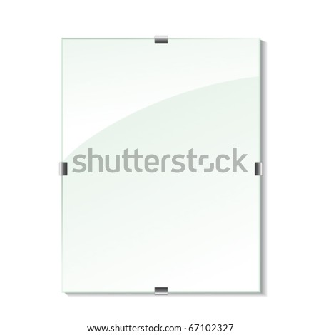 Vector glass frame - stock vector
