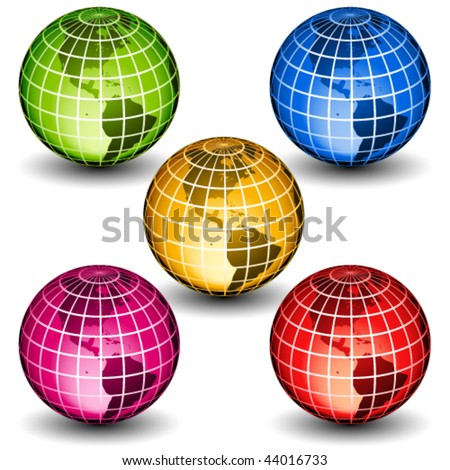 vector glass globes