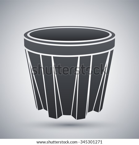 Vector Glass of whiskey icon - stock vector