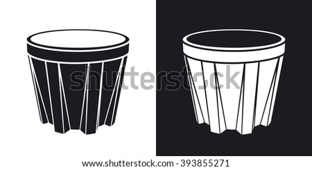 Vector Glass of whiskey icon. Two-tone version on black and white background - stock vector