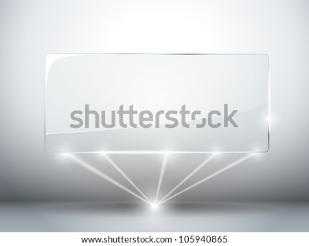 Vector - Glass Plate Background with Lasers - stock vector