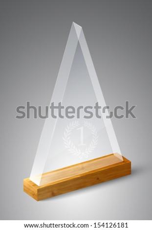 vector glass trophy - stock vector