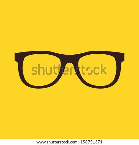 Vector Glasses Icon - stock vector