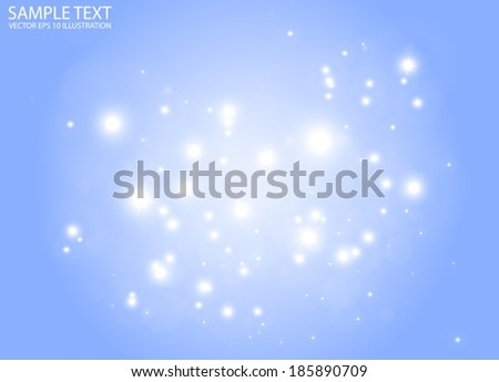 Vector glittering blue space entity background - Vector blue light shine background illustration - stock vector