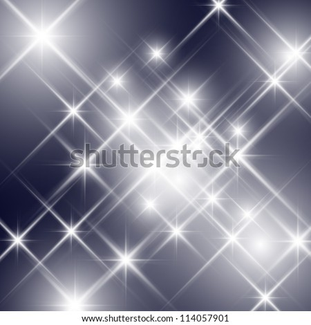 Vector glittering stars (can be used with any background) - stock vector
