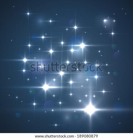 Vector glittering stars. Sparkle background - stock vector