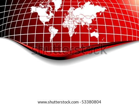 Vector Global Background - stock vector
