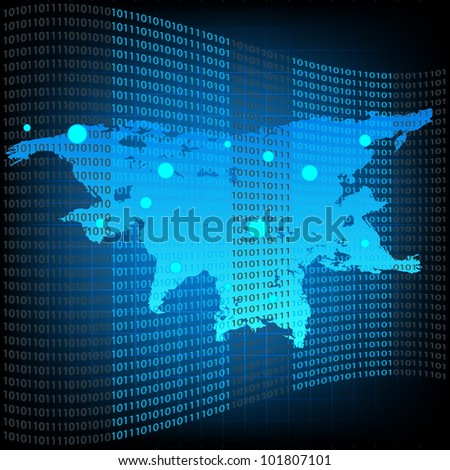 Vector Global Information Technology. Jpeg Version Also Available In Gallery. - stock vector