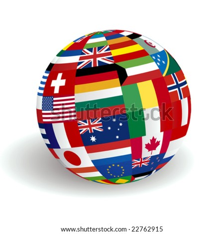 VECTOR Global world flags - stock vector